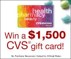 Win a $1,500 CVS Gift Card